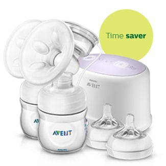 Comfort Double electric breast pump and nipples Philips Avent