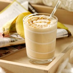 Peanut butter, banana and flax smoothie